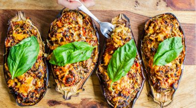 VVM Recipe: Quinoa Stuffed Eggplant